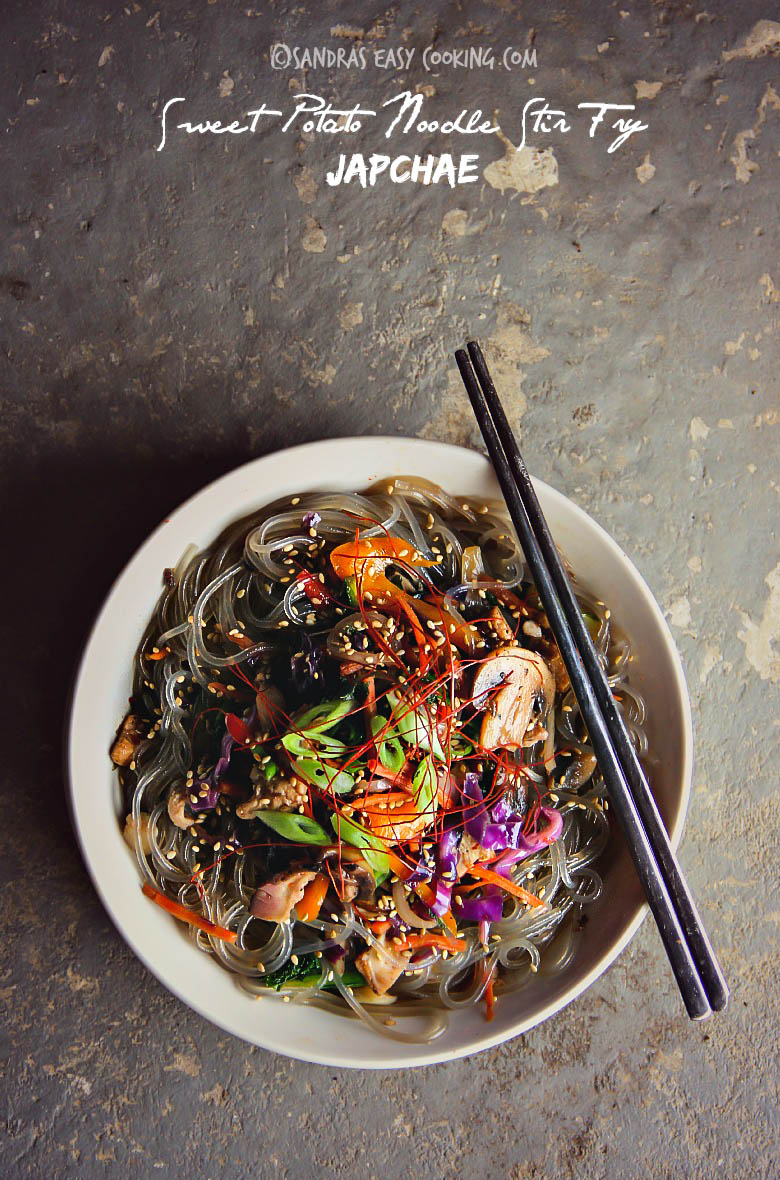 Sweet Potato Noodle Stir Fry -Japchae