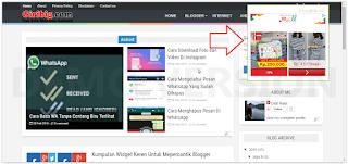 Cara Membuat iklan Melayang Dengan Tombol Close Di Blogger