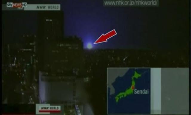 luzes durante sismo
