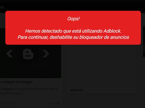 "Anti-bloqueador de ""Adblock"" para tu blog o pagina web"