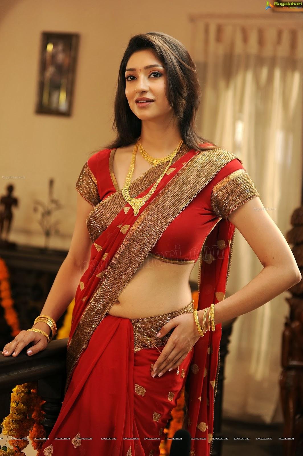 Spicy Saree: Dressing Below Navel Saree: Tanvi Vyas Hot Saree Navel