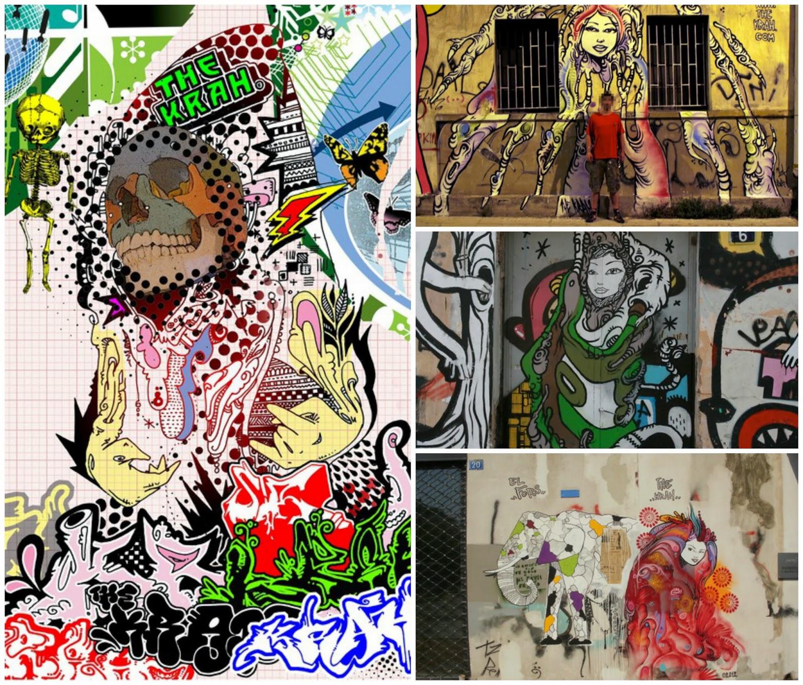The Krah Street Artist Athens