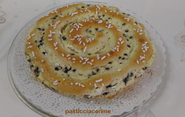 torta girella con crema al formaggio
