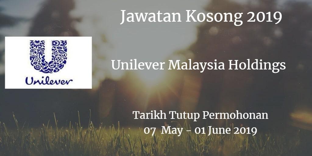 Jawatan Kosong Unilever Malaysia Holdings 07 May  - 01 June 2019