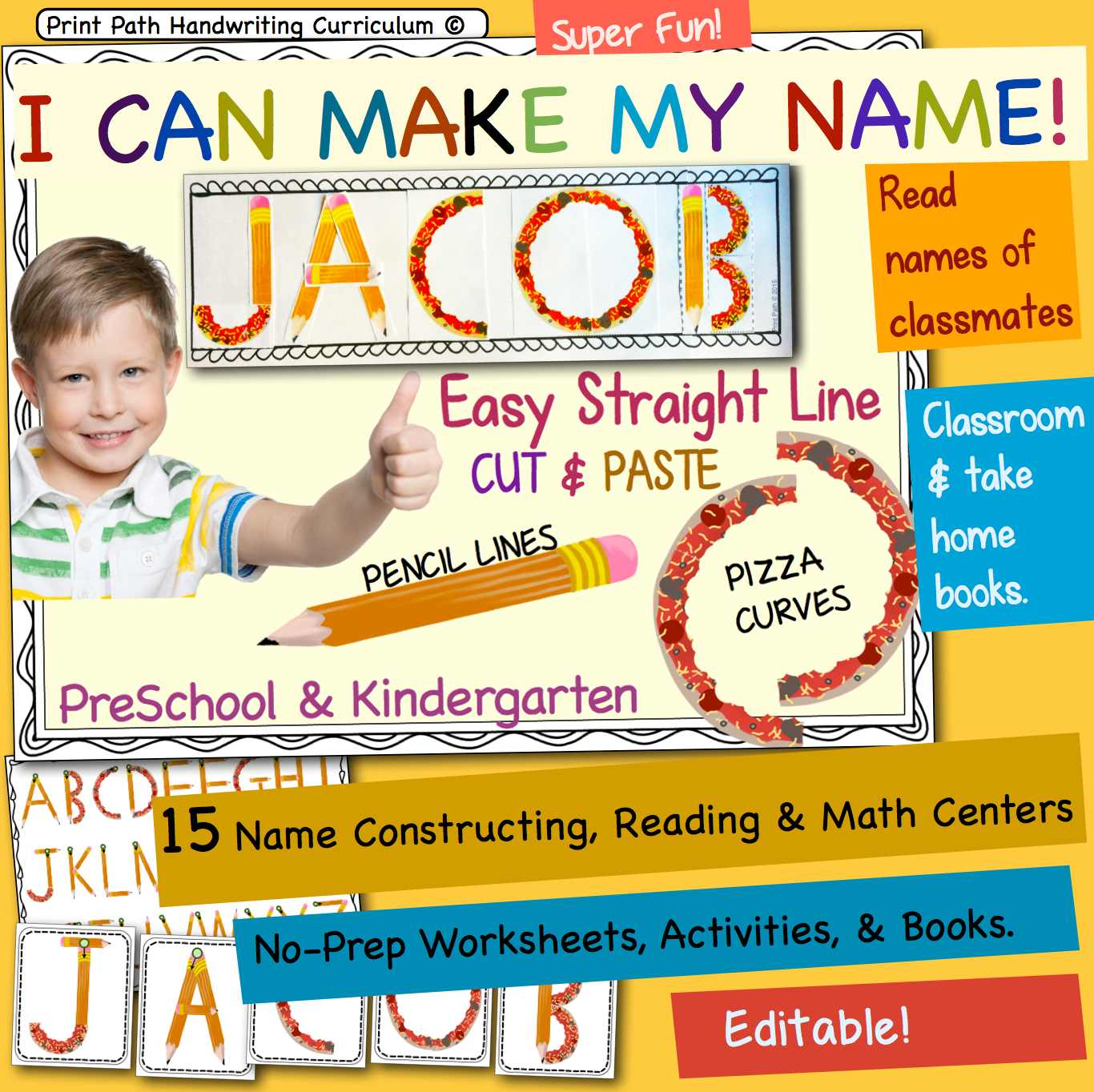 Capitals First! by Print Path: Teaching Young Children to Write Their Names [ 1364 x 1366 Pixel ]