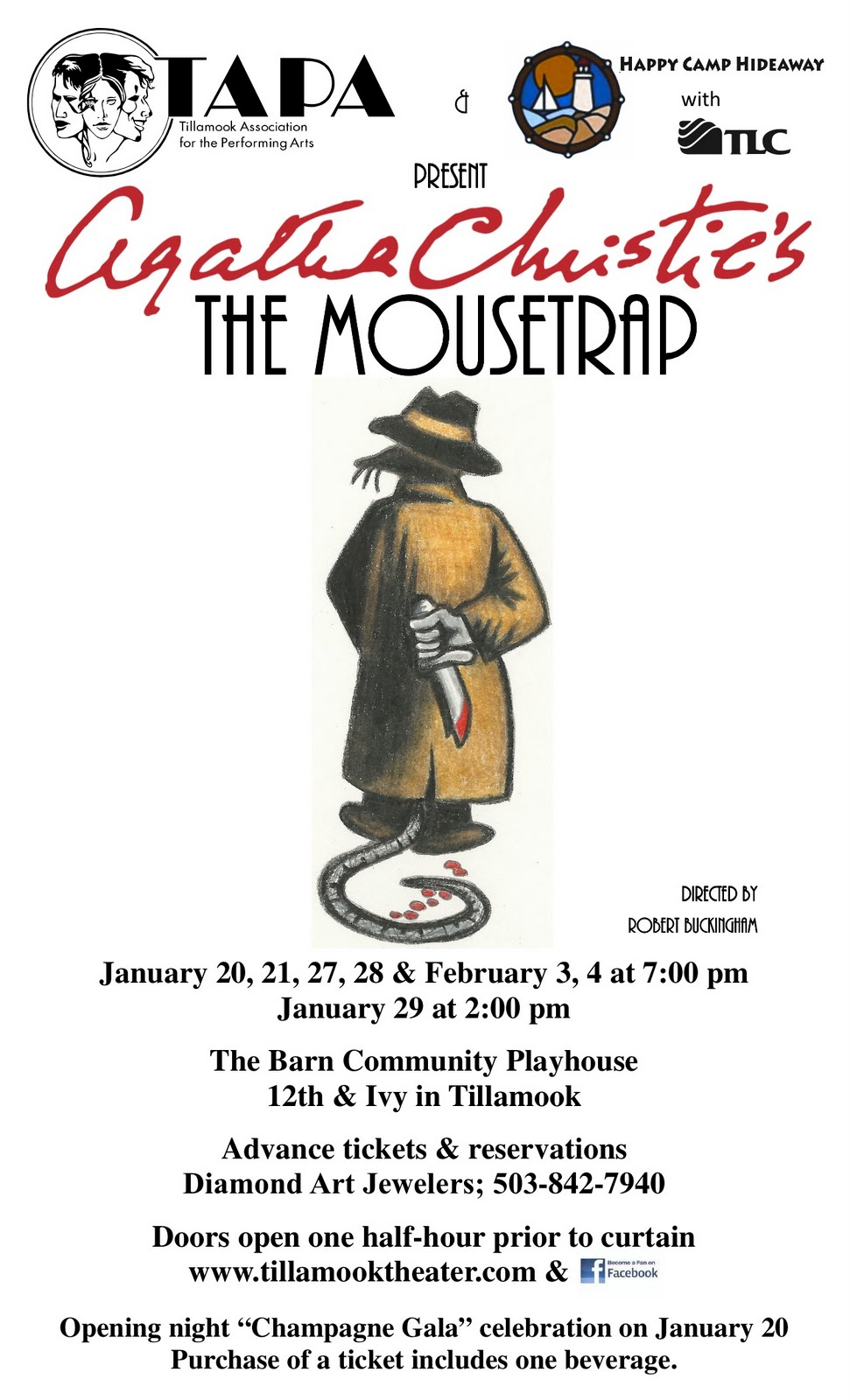 Agatha Christies The Mousetrap Coming In January Tillamook