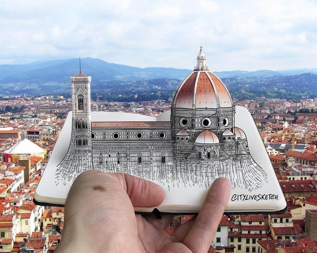 09-Florence-Cathedral-Pietro-Cataudella-3D-Architectural-Urban-Moleskine-Sketches-www-designstack-co