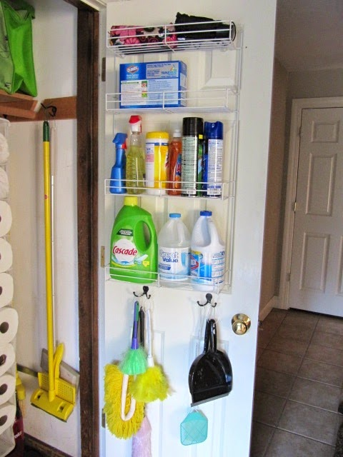 Broom Closet Organization