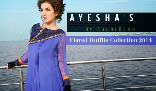 Ayesha by Shehrbano Summer Kurta | Ayesha's Closet Flared Outfits Collection 2014