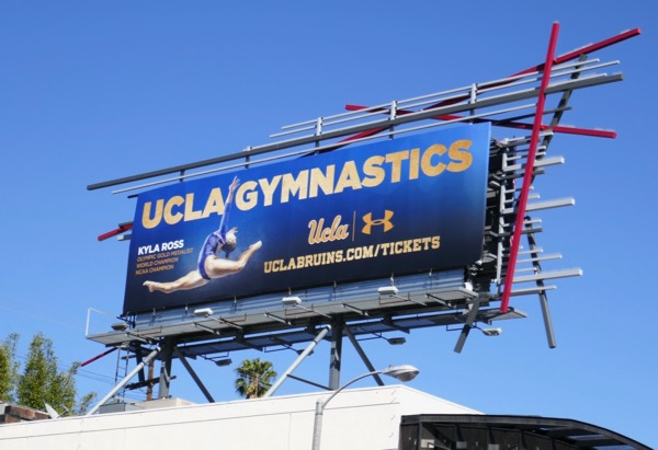 UCLA Gymnastics Kyla Ross billboard
