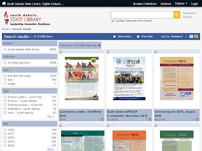 screenshot of state agencies collection webpage