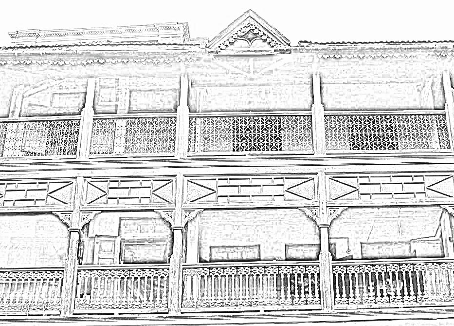 Stock Pictures: Sketches of balcony railing designs