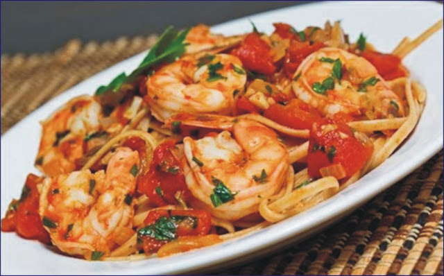 Prawn Spaghetti with tomato sauce