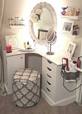 corner dressing tables for small bedroom designs