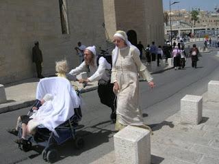 Strani personaggi - città vecchia di Gerusalemme