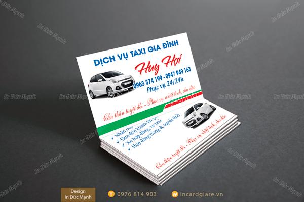 Mẫu card visit taxi Huy Hợi