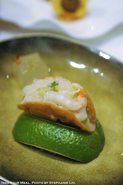 American Red Snapper Taco with Avocado at Gabriel Kreuther in New York City