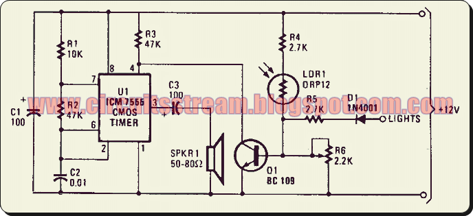 Simple Twilight Switch Circuit Diagram | Electronic Circuit Diagrams ...