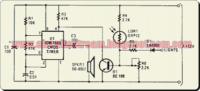 Simple Twilight Switch Circuit Diagram