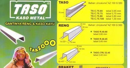 jenis produk baja ringan ukuran taso perodua b