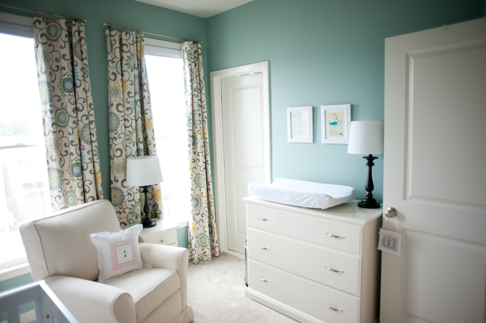 eat think and be married nursery reveal