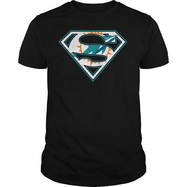 Miami Dolphins Superman Logo Shirt