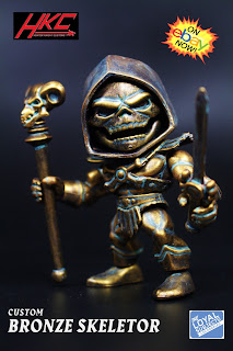 The Loyal Subjects Custom Bronze Skeletor Masters of the Universe figure
