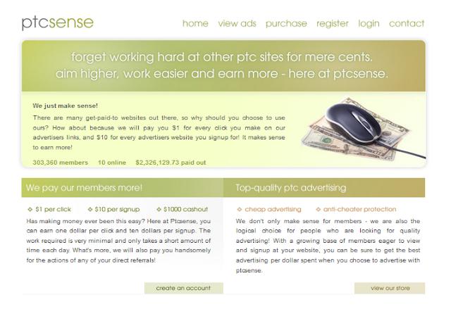 Ptcsense Get Paid $1 Per Click Cash Out At $1000! - Khmer PTC