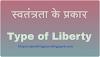 स्वतंत्रता के प्रकार (type of liberty in hindi)