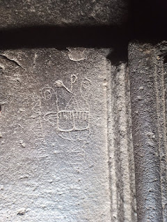 Rock etching in Pataleshwar Cave Temple