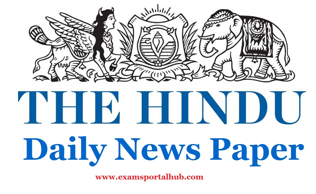 The Hindu S Today Newspaper June 24th 2017 Important Articles