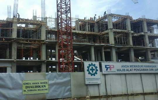 pemkot cirebon didesak putus kontrak kontraktror gedung setda
