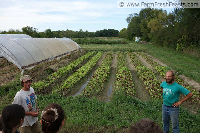 George Mertz of Patchwork Gardens leading a tour of his farm.
