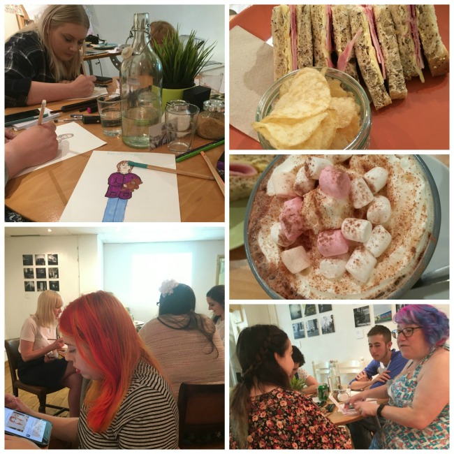 collage-of-bloggers-and-food-at-Welsh-bloggers-lunch
