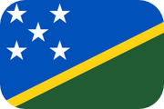 Rounded flag of the Solomon Islands