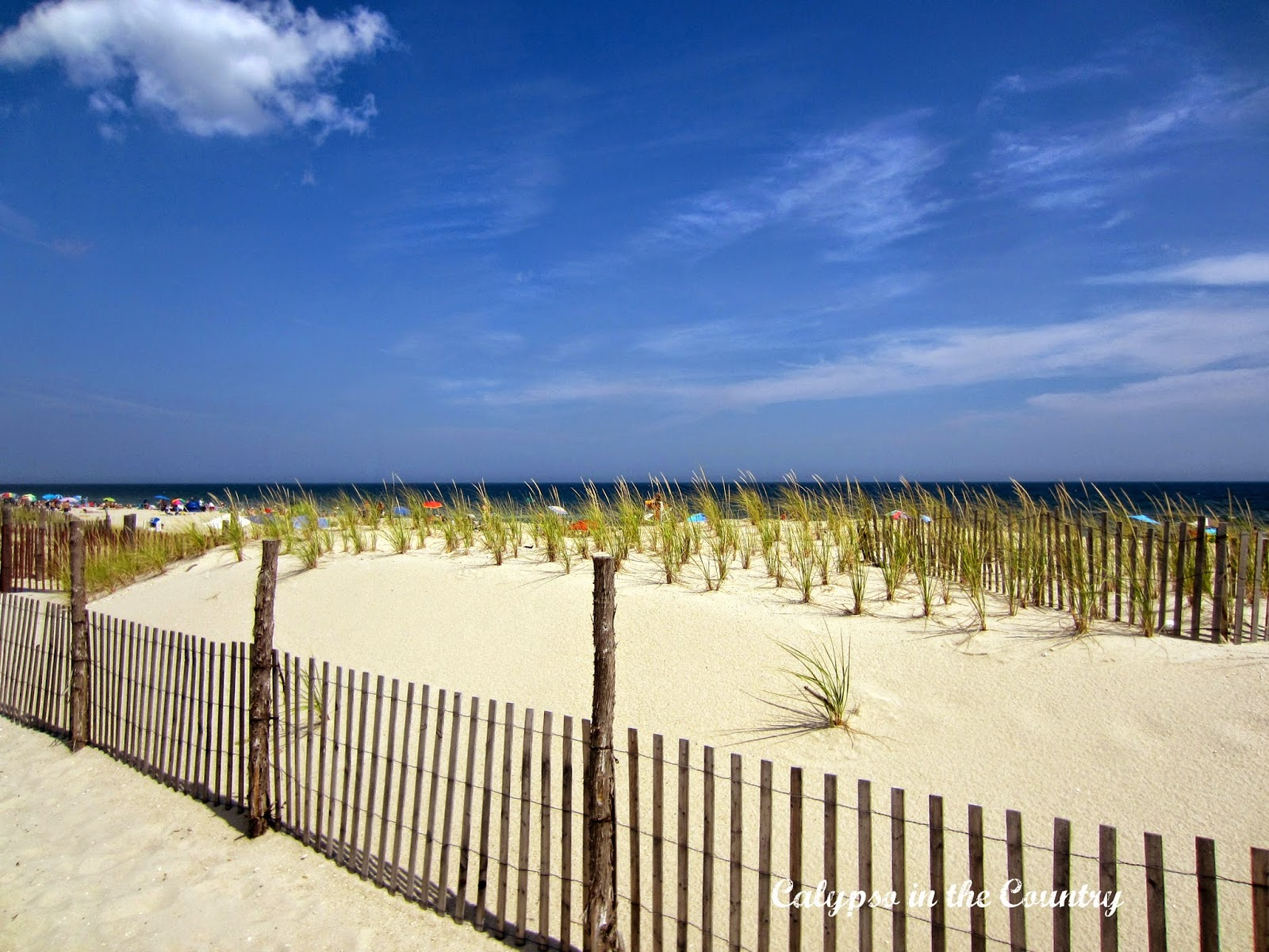 Sand Dunes at the Jersey Shore on Labor Day Weekend