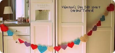 Tutorial: Valentine's Day Felt Heart Garland