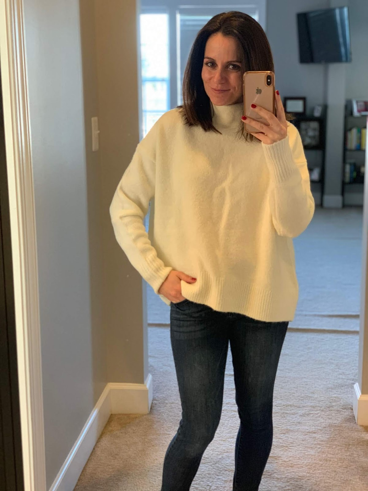 2147bf7b10 I probably shouldn t be buying sweaters this so far out in the season but I  just couldn t pass it up. This Cable Stitch brand sweater is seriously the  ...