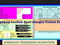 Download Gratis Aplikasi Analisis Hasil Ulangan Siswa Format Excel.Xlsx Terbaru