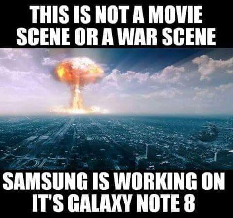 Galaxy Note 8 under work