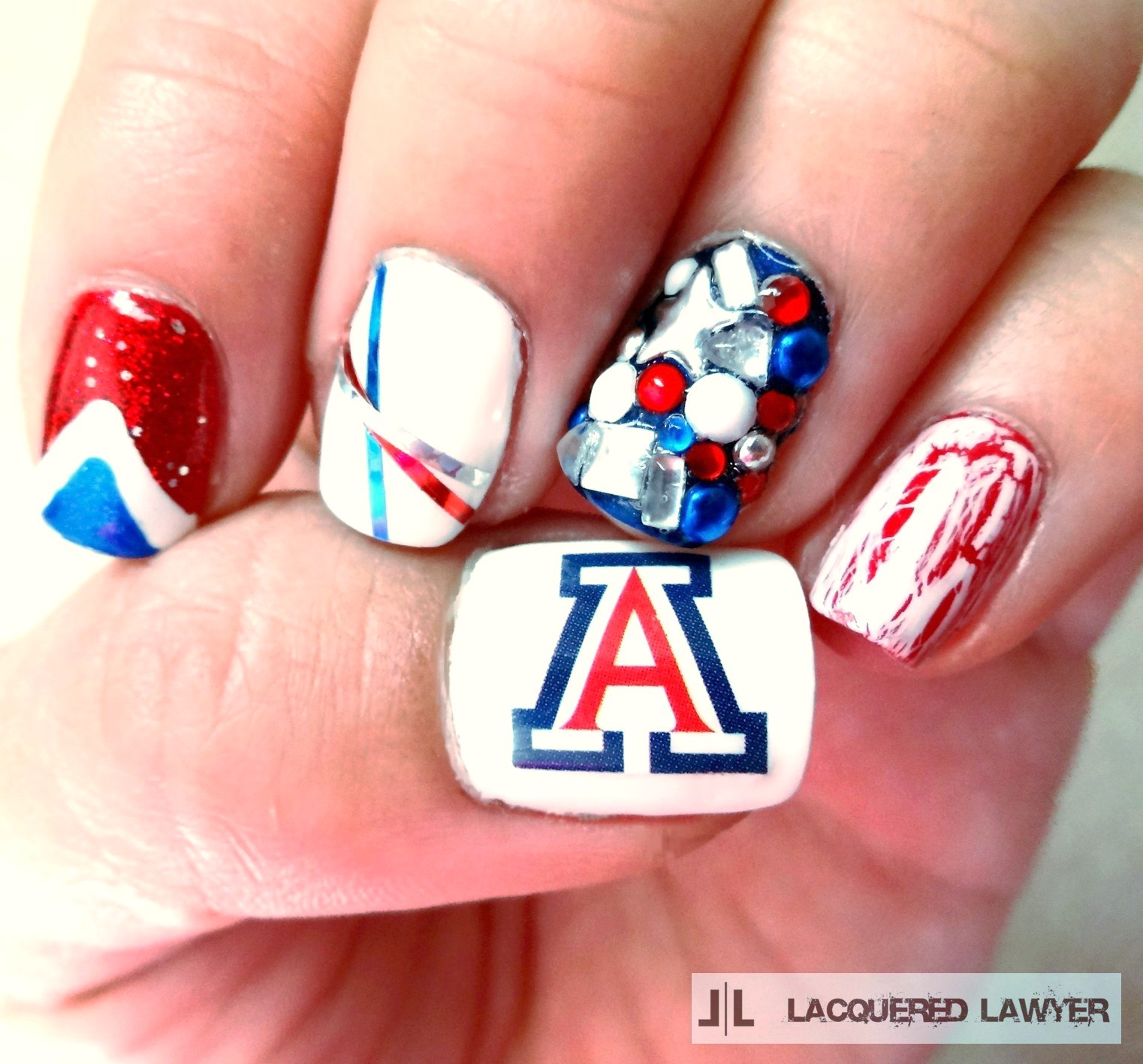 University of Arizona Nail Art