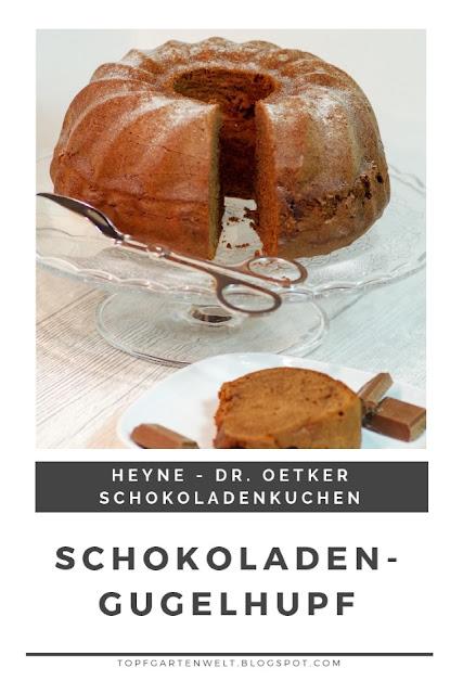 {Buchwerbung} Rezept für einen lockerleichten, luftigen Schokoladen-Gugelhupf, der wunderbar saftig und einfach sowie schnell zu machen ist. Aus Dr. Oetker Schokoladenkuchen. #schokoladengugelhupf #topfgartenwelt #backenmitschokolade