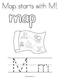 Letter M Coloring Page 2