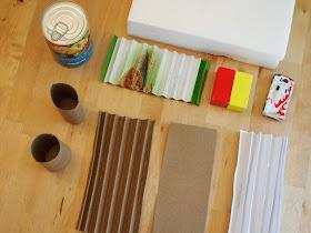materials needed to build bridges with kids