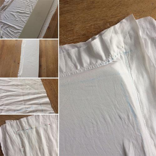 hoeslaken om schuimrubber naaien