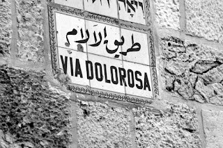 Via Dolorosa Sign in Jerusalem