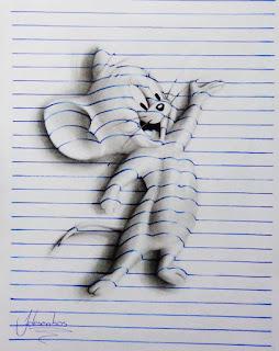 برازيـلي يبــدع في فـن رسم ثــلاثي الأبعــاد . 1459079518-3d-lines-