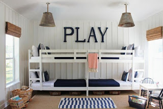 The design of the bedroom and Playroom girls and boys