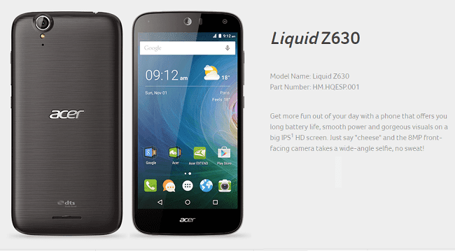 Stock Firmware Acer Liquid Z630