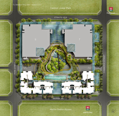 Marina One Singapore's site plan